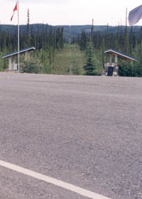 Alaska-Yukon border, from Alaska Highway