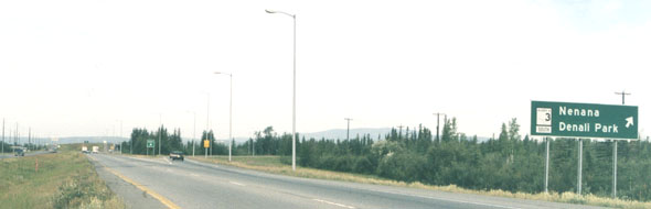 Richardson Highway, approaching junction with Mitchell Expressway