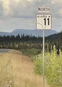 AK 11 marker north of Coldfoot