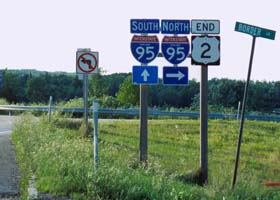 East end of US 2, at junction with Interstate 95