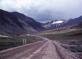 Highway through Brooks Range