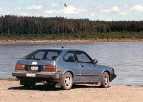 My old blue 1982 Honda Accord, parked on the south bank of the Yukon River