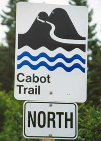 Symbolic trail marker for Cabot Trail