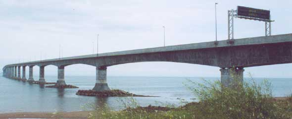 Graceful curves of the long Confederation Bridge to Prince Edward Island