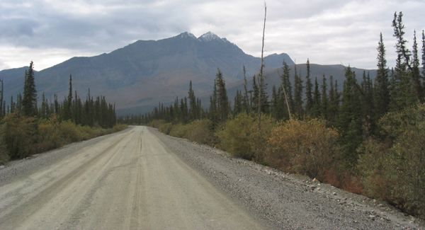 Dalton Highway southbound near the 'northernmost spruce tree'