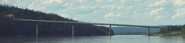 Bridge over the Yukon River, from tour boat east of bridge