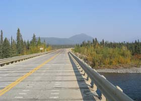 Concrete bridge deck on one of the Jim River crossings