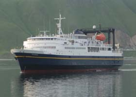 M/V Tustumena, approaching the dock in Dutch Harbor